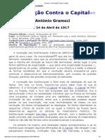 Antonio Gramsci - A Revolução Contra o Capital (Artigo)