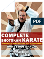 Complete Shotokan Karate Manual Sample