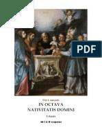 I y II Vísperas de la Octava de Navidad. 1 de enero. Forma Extraordinaria del Rito Romano