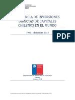 Presencia de Inversiones Chilenas Directas en el Mundo. 1990-diciembre 2013