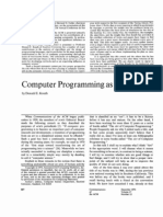 Computer Programming as an Art