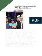 30/12/2014 Quien Sea Candidato Debe Guardar La Unidad Del PRI