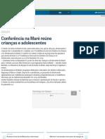 Conferência Na Maré Reúne Crianças e Adolescentes - Jornal O Globo