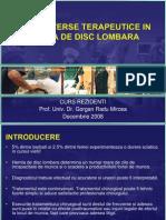Controverse Terapeutice in Hernia de Disc Lombara