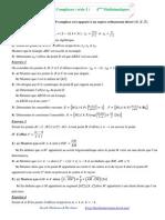 Nombrkhjes Complexes 4ème Mathématiques