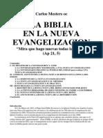 MESTERS, Carlos La Biblia en La Nueva Evangelización