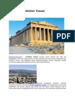 Ciri Khas Arsitektur Yunani