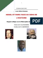 Hegel Et Marx Face Au Sens de l'Histoire