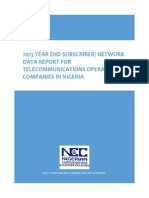 2013 Year End Subscriber Network Data Report