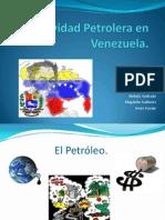 Actividad Petrolera en Venezuela