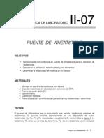Lab II Prac 7 Wheatstone