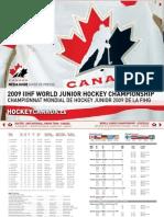 Hockey Canada Media Guide - 2009 IIHF World Junior Championship