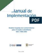Manual Implementacion MECI-2005