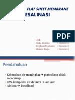 Aplikasi Flat Sheet Membrane Untuk Desalinasi