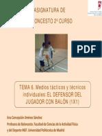 Bc-Tema-6.1_ Medios Tácticos y Técnicos Individuales El Defensor Del Jugador Con Balón (1x1)