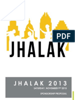 Jhalak 2013 Officiasdfl Sponsorship Proposal