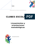 Lineamientos clubes