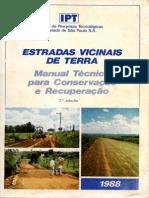 Manual de Conservação e Recuperação de Estradas Vicinais de Terra
