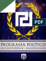 Amanecer Dorado Programa Político