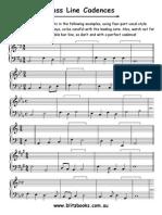 Bass Line Cadences