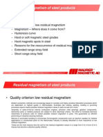 White Paper E Causes for Magnetism in Workpieces