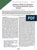 Mncass a Spectrum Resource Allocation Algorithm for the Flexible Bandwidth Optical Network