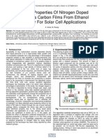 Physical Properties of Nitrogen Doped Amorphous Carbon Films From Ethanol Precursor for Solar Cell Applications