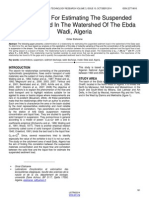 Relationship for Estimating the Suspended Sediment Load in the Watershed of the Ebda Wadi Algeria