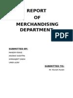 Report of Merchandising Department Anurag