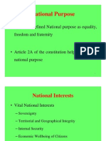 National Purpose power Point Slide