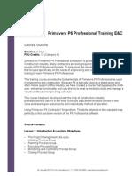 Ten Six Primavera P6 Professional EC Course Outline