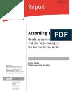 Humanitarian Assessment