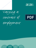 Varying a Contract of Employment Accessible Version