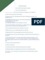 Essay - Formal Writing Rules