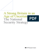 The National Security Strategy - A Strong Britain in an Age of Uncertainty