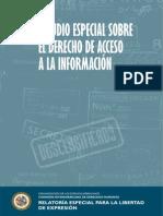 estudio especial sobre el derecho de acceso a la informacion