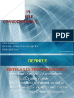 Fistula LCR in traumatismele craniocerebrale