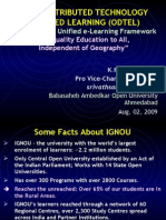 Open Distributed Technology Enhanced Learning (Odtel)