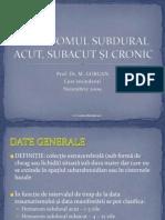 Hematomul subdural acut, subacut si cronic