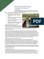 Sanitary Sewer Smoke Testing FAQs