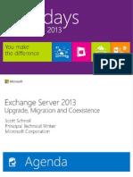 EXL309-Exchange Server 2013 Deployment & Coexistence (Rm426-427)
