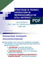Strategie si tehnici operatotii in meningioamele de etaj anterior