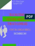 Traumatismele vertebro-medulare,  toraco-lombare