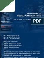 Pert 14 Model Pemilihan Rute