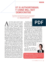 Why China will not democratise - Benjamin Herscovitch