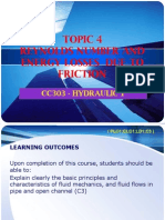 REYNOLDS NUMBER  ENERGY LOSSES DUE TO FRICTION (Topic 4).ppt