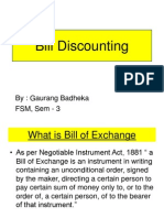 Bills Discounting PPT