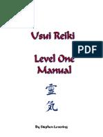 S - Usui Reiki Manual Level 1
