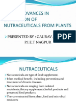 RECENT ADVANCES IN EXTRACTION OF NUTRACEUTICALS FROM PLANTS.pptx