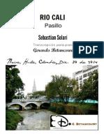 RIO CALI. Pasillo. Sebastián Solarí. Transc. para piano Gerardo Betancourt.